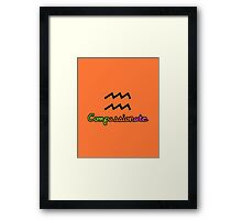 Aquarius Upfront Framed Print