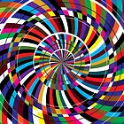 Circle Laser Pop Art by David Alexander Elder