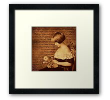 Girl with Doll Framed Print
