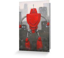 Retro Robot #4 Greeting Card