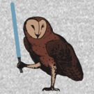 Jedi Owl by paperboyjim