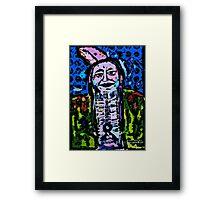 Pop Art Native American Indian  Portrait Framed Print