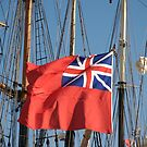 British ensign flag on ship, Brest 2008 Maritime Festival, Brittany, France by silverportpics