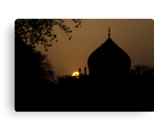Sunset in India Canvas Print