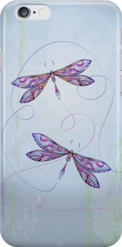 flying dragonflies by sabrina card