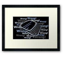 Texting Sherlock Framed Print