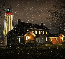 Fort Gratiot Light House for Viv by cherylc1