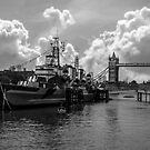 HMS Belfast and Tower Bridge by PurestPictures