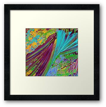 COLOR CHAOS Wild Vibrant Colorful Abstract Acrylic Painting Gift Art Decor by EbiEmporium