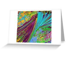 COLOR CHAOS Wild Vibrant Colorful Abstract Acrylic Painting Gift Art Decor Greeting Card