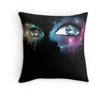 Active Optics-Black Throw Pillow