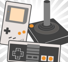 Classically Trained Retro Gamer Sticker