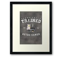 Classically Trained Retro Gamer Framed Print
