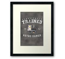 Classically Trained Retro Gamer Framed Print