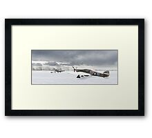 Hurricanes in the snow Framed Print
