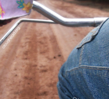 Girl Rides Bike Sticker