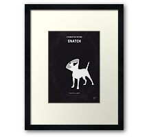 No079 My Snatch minimal movie poster Framed Print