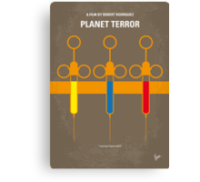No165 My Planet terror minimal movie poster Canvas Print