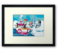 penguins in Antarctica  Framed Print