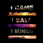 I Came, I Saw, I Mined  by Rowans Designs