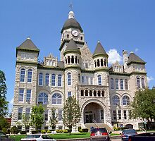 Route 66 - Jasper County Courthouse by Frank Romeo