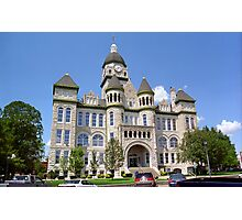 Route 66 - Jasper County Courthouse Photographic Print