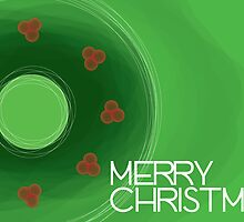 Holly Wreath - Christmas Card by charliesheets
