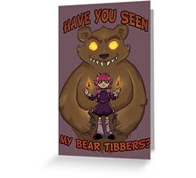 Annie and her Bear Greeting Card