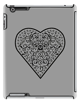Black Iron Heart ipad by venitakidwai1