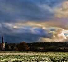 Across Barming Fields by Dave Godden