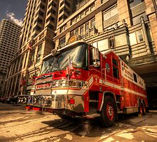 Boston Fire Truck  by Rob Hawkins