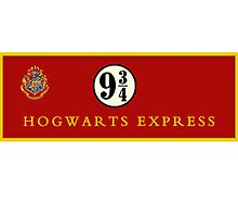 Hogwarts Express Platform 9 3/4 - Harry Potter by Fiona Boyle