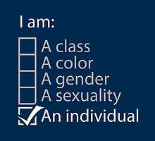 I am an individual. by trekvix
