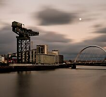 The Clyde Arc and the Finnieston Crane by John Ellis