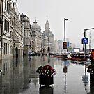 The Bund in the Rain © by Ethna Gillespie