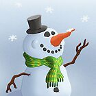 Snowman Christmas/Winter Card by JezLong