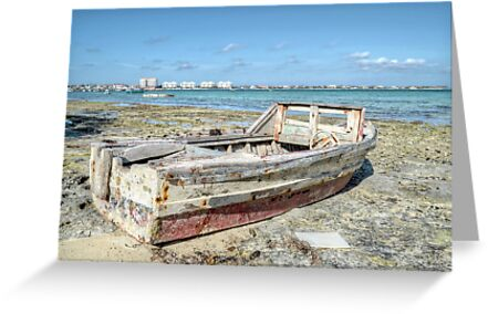 Lonely Boat dreaming of the Sea in Montagu Beach - Nassau, The Bahamas by 242Digital