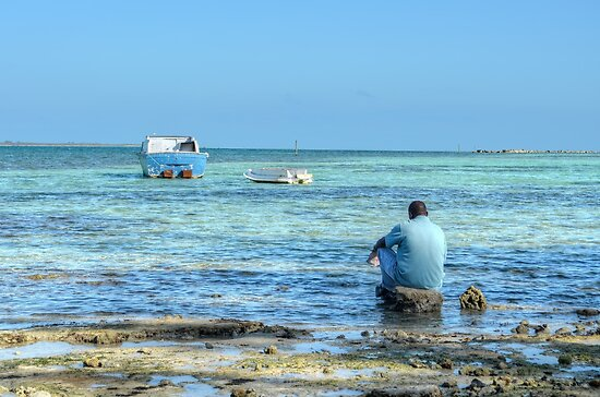 Peaceful time while looking at the sea in Nassau, The Bahamas by 242Digital