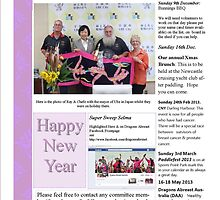 Newcastle/Hunter Dragons Abreast Newsletter pg 1 December 2012 by KazM