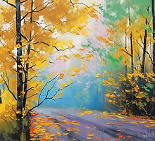 Misty Fall Road by Graham Gercken