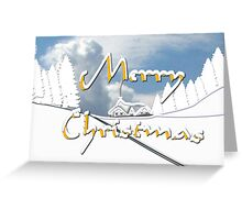 Merry Christmas from a Snowy Countryside Greeting Card
