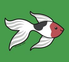 Pet Fish - Red white and Black Goldfish Kids Clothes
