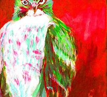 Red Hawk Painting by Jennifer Ferdinandsen