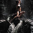 Approaching the Light. Anna at Eureka Waterfalls, Mauritius by JennyRainbow