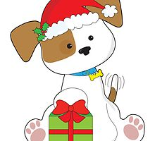 Christmas Puppy by Maria Bell