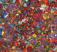 Abstract - Fabric Paint - Sanity by Mike  Savad