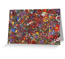 Abstract - Fabric Paint - Sanity Greeting Card