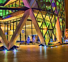 Christmas At The Gherkin London by Colin  Williams Photography