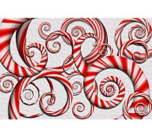 Abstract - Spirals - Peppermint Dreams Photographic Print