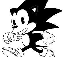 Vintage Sonic (B&W) by shadeprint